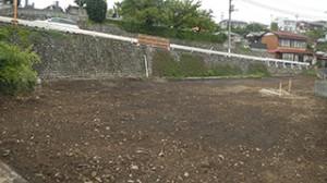 青梅市 鉄骨ブロック造3階建てアパート解体工事15(整地)