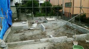昭島市 木造2階建て住宅2×4縁切り手壊し解体2