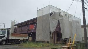 所沢市 木造2階建てアパート改修解体工事2