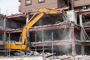 鉄骨造住宅の解体工事