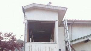 所沢市 5坪木造2階建て物置 手壊し