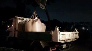 武蔵野市 夜間砂運搬作業