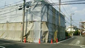 日野市 RC造2階建てアパート解体1(解体前)