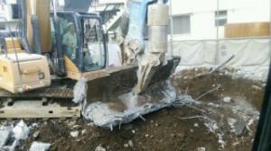 日野市 RC造2階建てアパート解体3