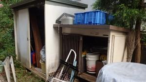 青梅市 物置撤去工事