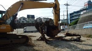 擁壁撤去 埼玉県新座市
