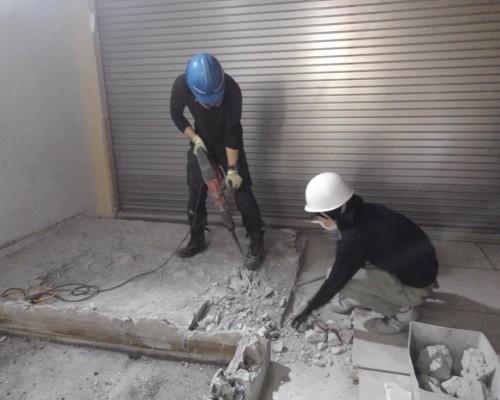 昭島市 駅内 内装、原状回復、スケルトン解体工事2