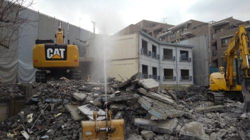 八王子市RC造解体工事2 建物解体