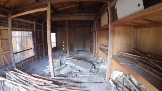 立川市 木造解体工事 足場組立シート養生 内装撤去作業