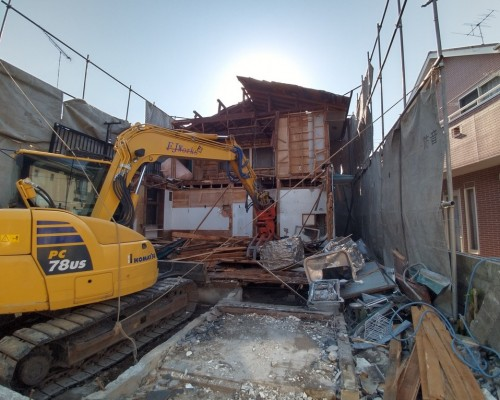調布市 木造 解体工事