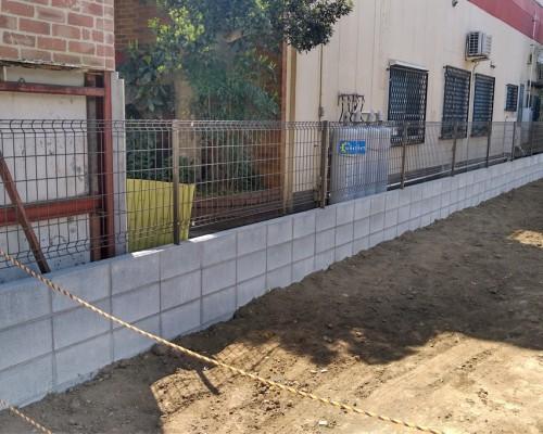 立川市 外構 ブロックフェンス新設工事