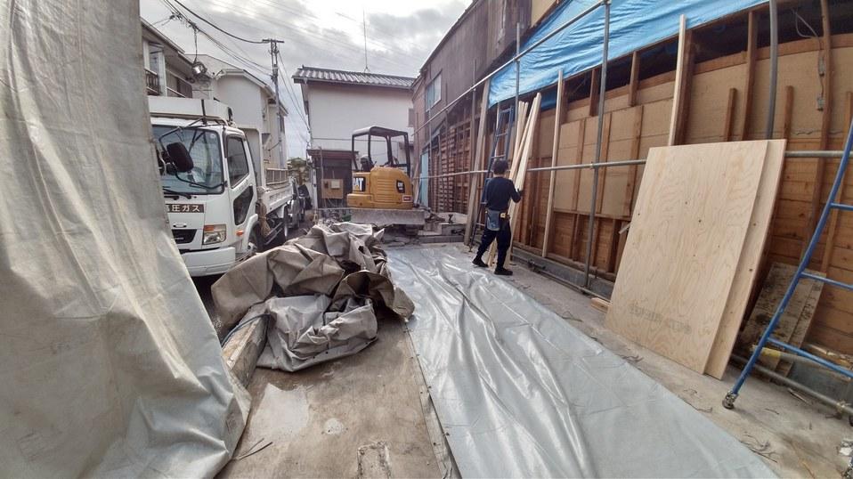 府中市 木造住宅 切り離し解体 外壁リフォーム